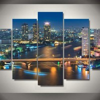 Bangkok Thailand Canvas Panel Wall Art Print room decor Panel Poster Picture