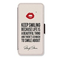 Brand New PU Leather Card Slots Wallet Stand Protector Case Cover Marilyn Monroe for iPhone 5 Case
