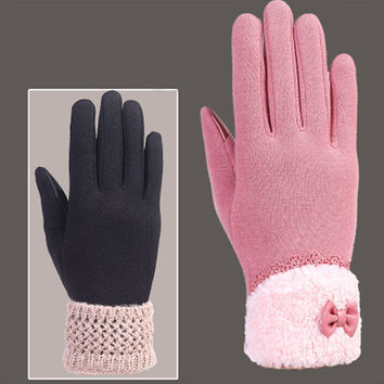 20 Colors Fashion Women Gloves Winter Fitness Women Guantes Mujer New 2016 Phone Touch Screen Outdoor Wrist Mittens Warm Gloves