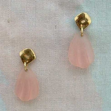 AVON Pink Faux 'Camphor Glass' Earrings