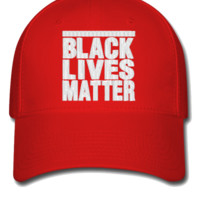 black lives matter embroidery hat  - Flexfit Baseball Cap