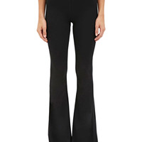 Black High Waist Plain Flared Pants