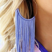 Hung Up Earrings: Lavender