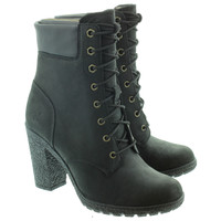 Timberland Ladies Glancy Heeled Ankle Boots In Black
