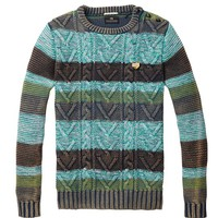 Striped Colour Block Crew Neck Pull - Scotch & Soda