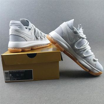 Nike Zoom Kd 10 Pale Grey Basketball Shoes