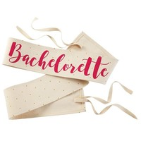 MUDPIE BACHELORETTE POLKA DOT CANVAS WEDDING SASH