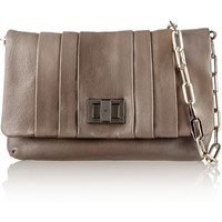 Anya Hindmarch Rosyln II pleated leather shoulder bag – 60% at THE OUTNET.COM