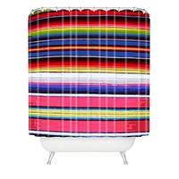 Deb Haugen Surf Serape Shower Curtain