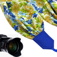 Flowers scarf camera by InTePro for most cameras with flowers design.