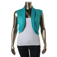 American Rag Womens Plus Sleeveless Open Front Shrug
