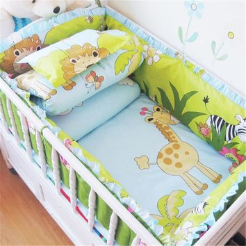 5Pcs Baby Crib Cotton Bumpers Bedding Set Kids Bedding Sets  Newborn Baby Bed Set Crib Bumper Baby Bumper Cot Set for Infant
