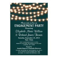 Glowing String Lights Modern Engagement Party
