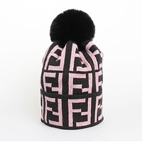 Fendi Fashion F Leisure Letter Adult Wool Cap