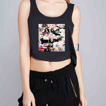 Miley Cyrus Collage for Crop Tank Girls S, M, L, XL, XXL *07*