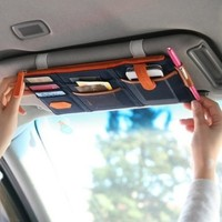 Multi-functional Car Clip Sunvisor Car Storage Bag