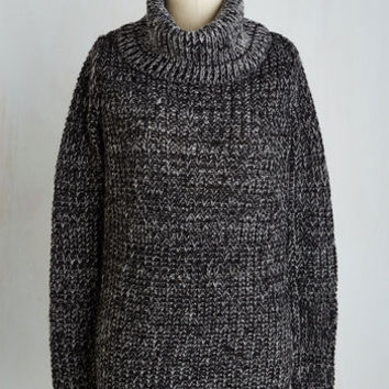 Mid-length Long Sleeve Recipe Club Sweater in Pepper