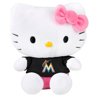Miami Marlins 8'' Hello Kitty Plush Toy - http://www.shareasale.com/m-pr.cfm?merchantID=7124&userID=1042934&productID=540318551 / Miami Marlins