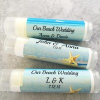 Beach Wedding Lip Balm | Destination Wedding | Free Customization