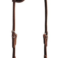 Weaver Leather Western Headstall Sliding Ear with Latigo Leather 10-0093