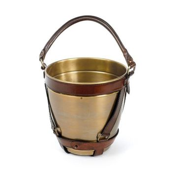 Leather Handlee Champagne Bucket