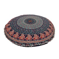 "Eberlee Boho Home 32"" Round Floor Pillow"