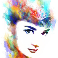 Audrey Hepburn Art Print by Michael Akers | Society6