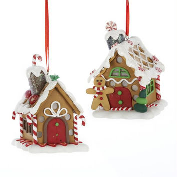 6 Christmas Ornaments - Gingerbread House