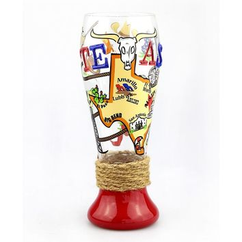 Top Shelf ''Texas'' 24-oz. Pilsner Glass (White)