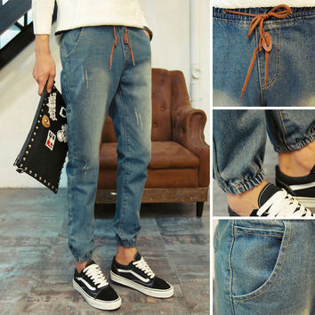 Mens Cool Straight Faded Jeans