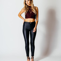 SEXY FAUX LEATHER SKINNY PANT