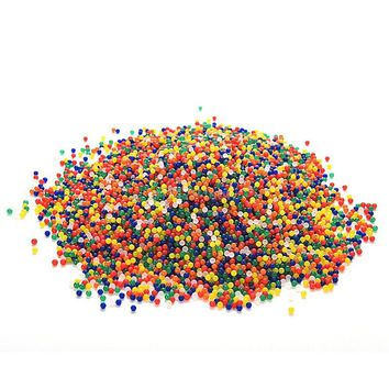 10000pcs colored orbeez soft crystal water paintball for NF gun bullet grow water beads grow balls water gun