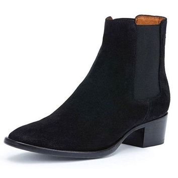 DCCKAB3 Frye Dara Chelsea Black Short Leather Boots