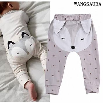 WANGSAURA Fashion Cute Fox Newborn Baby Boys Girls Pants Bottom Harem Leggings Pant Trousers 0-24