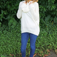 Cowl-Neck Sweater in Ivory