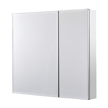 Utopia Alley Rustproof Medicine Cabinet, Glass Shelves, Mirrored Sides, Bi-View / Single