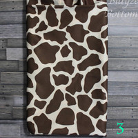 PLEASE READ to ORDER Giraffe Print One Size Pocket Diaper or Diaper Cover
