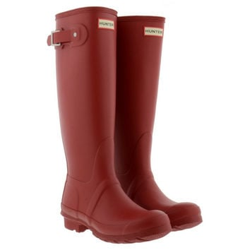 Hunter Military Red Tall Boots