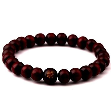 Wonlife New Men Natural Wood Beads Bracelets Black Matte Meditation Prayer Bead Bracelet Women Wooden Jewelry,Yoga Jewelry