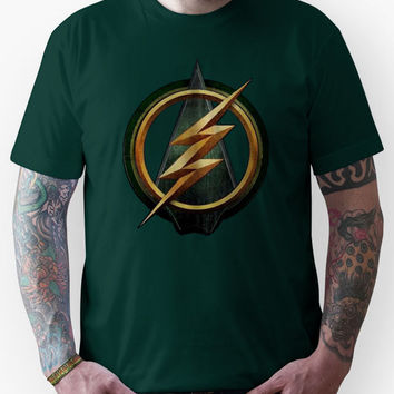 CW Arrow and The Flash Crossover Symbol Shirt Unisex T-Shirt