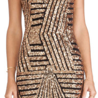 Sequins Backless Slim Dress