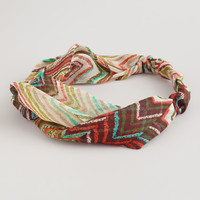 Brown Zigzag Twisted Knot Headband - World Market