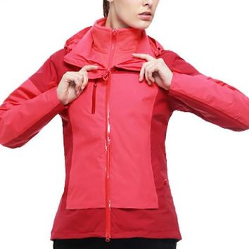 Autumn Women Winter Outdoor Camping&Hiking Jacket  Mesh 2 pieces Hunting Jackets Windbreaker Coat