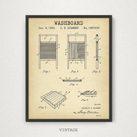 laundry room Art, Washboard Patent Printable, Laundry Room Decor, Digital Download Blueprint Art, Laundry Poster Print, Dry Cleaning Decor