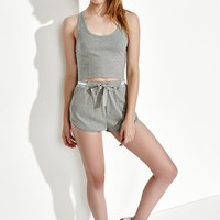 First Base Slashed Ribbed Cropped Top at PacSun.com