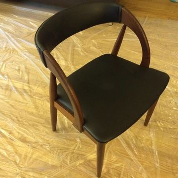 6 Danish Mid-Century Kai Dark Teak Dining Chairs