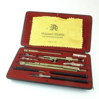 Vintage Original Richter Drafting Set, Set of Compasses Drafting Architectural Drafting Tool Set, Engineering Drafting Tools