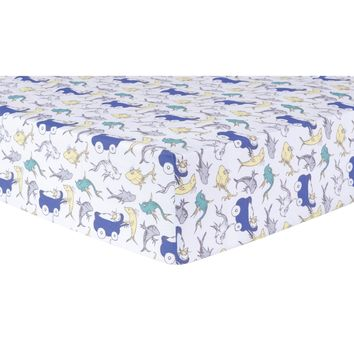 Dr. Seuss New Fish Fitted Crib Sheet