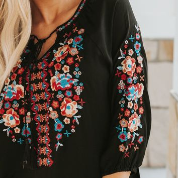 Festival Embroidered Boho Top