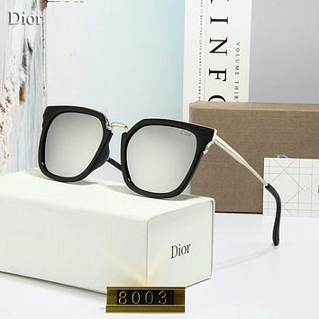 Dior Fashion Women Casual Shades Eyeglasses Glasses Sunglasses Grey I-A-SDYJ